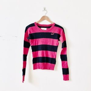 Hollister Striped Logo Sweater